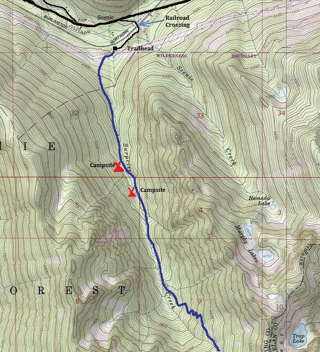 Surprise Lake Trail Glacier Lake