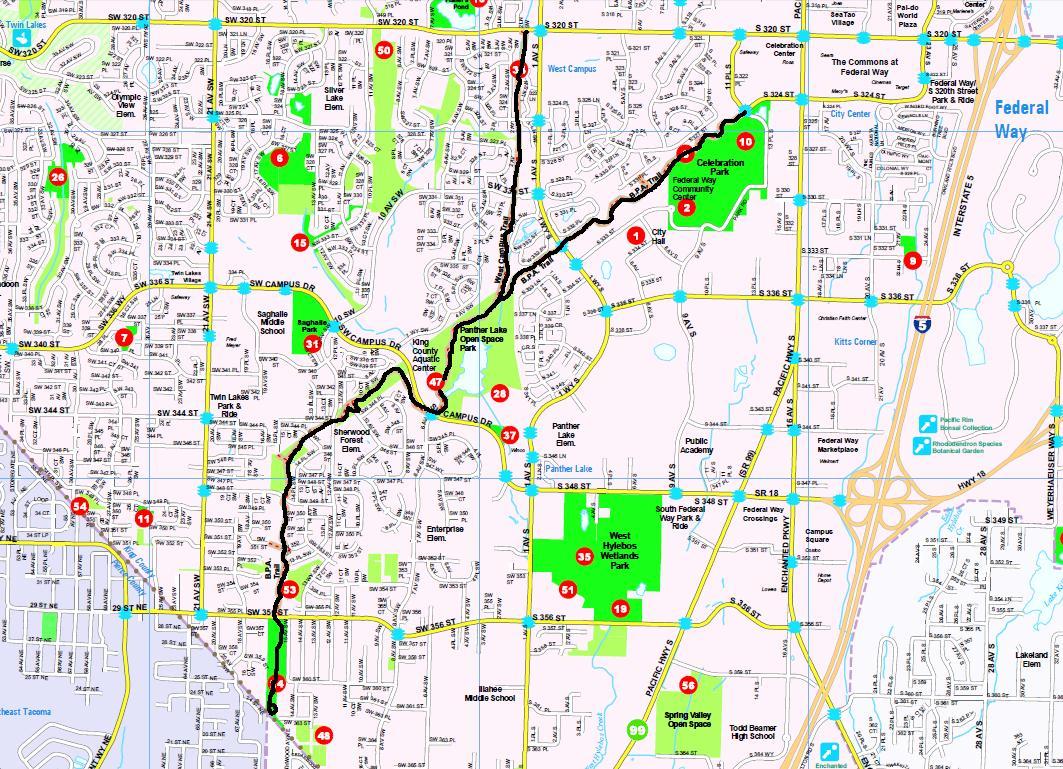 Federal Way BPA Trail  Puget Sound Biking Trails
