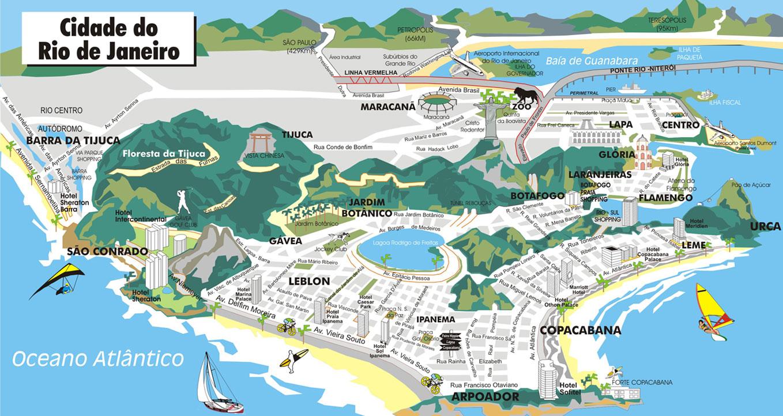 Rio De Janeiro State Map – Rio De Janeiro Tourist Attractions Map