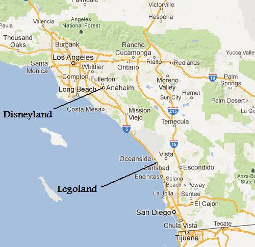 Legoland California Map, Pictures & Information