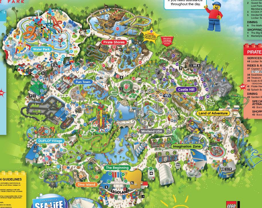 Legoland California Map Pictures Information