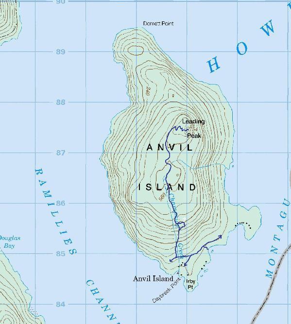 Gambier Island Trail Map