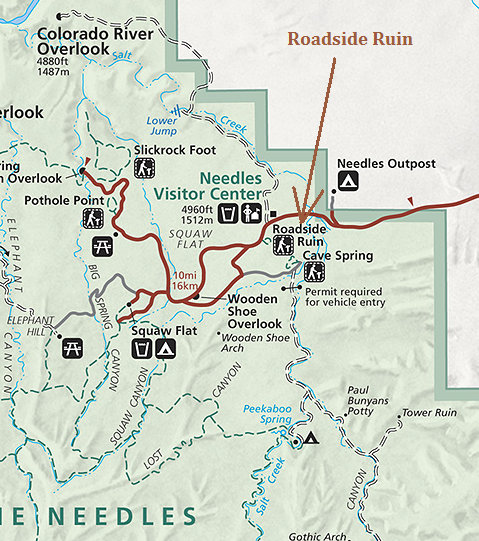 Roadside Ruin Needles District Canyonlands National Park