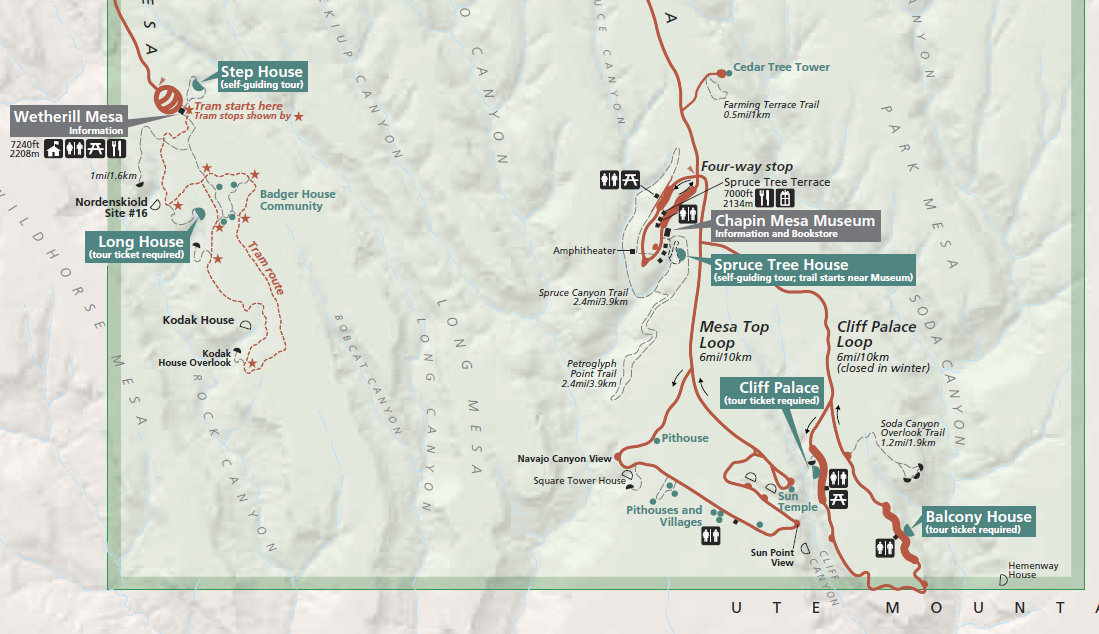 Mesa Verde National Park & Maps