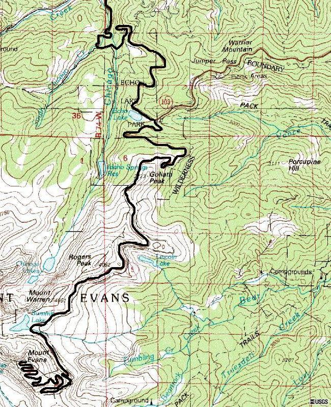 Driving Mount Evans Colorado