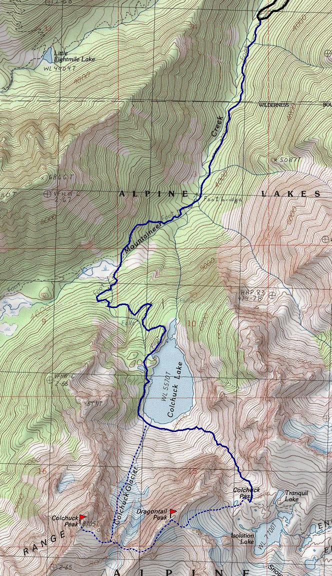 Dragontail Colchuck Peak