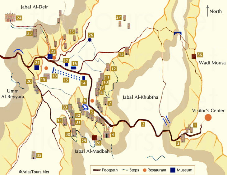Petra World Map petra jordan - world heritage site