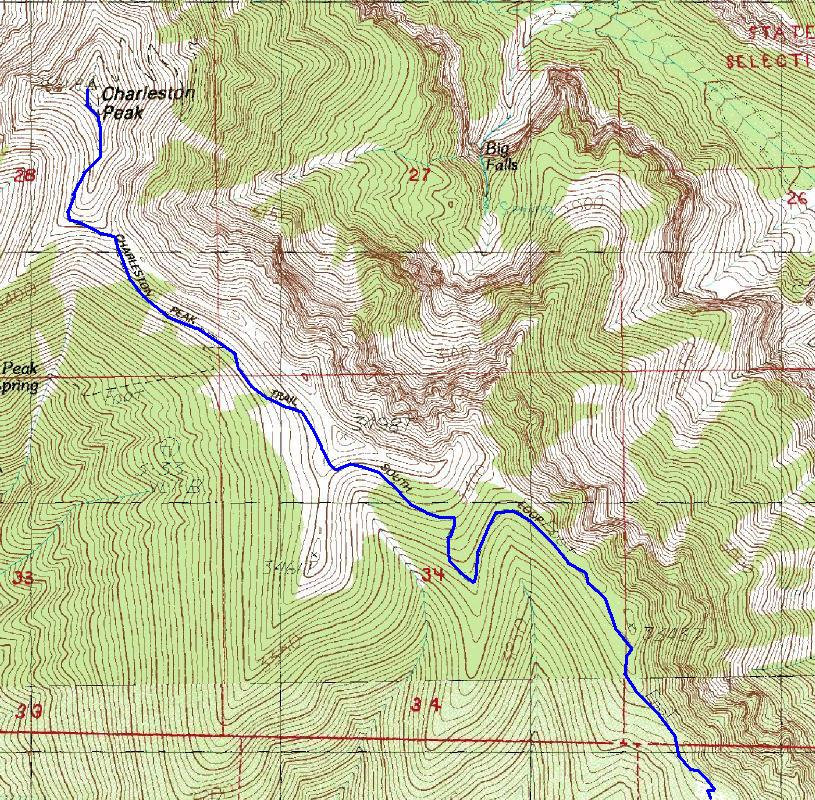 Mt Charleston Nevada Hiking Information And Map