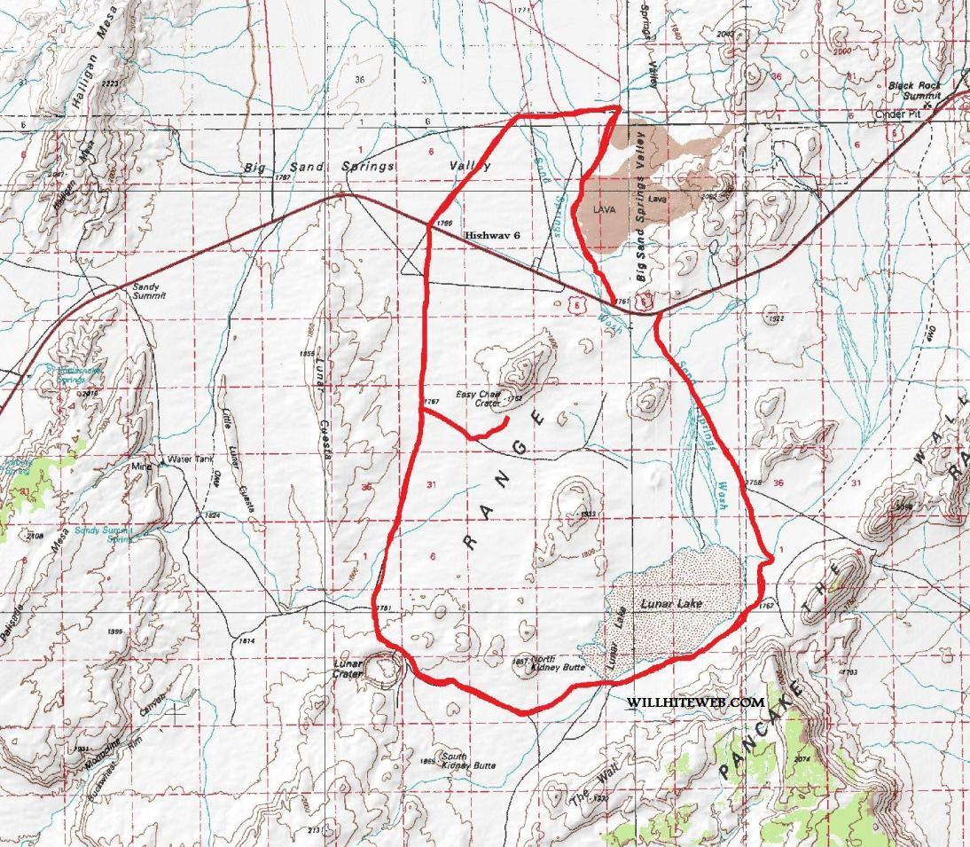 Lunar Crater National Natural Landmark Nevada Blm