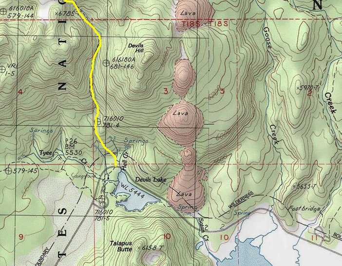 South Sister Oregon Climbing Information And Map - Oregon hiking trails map