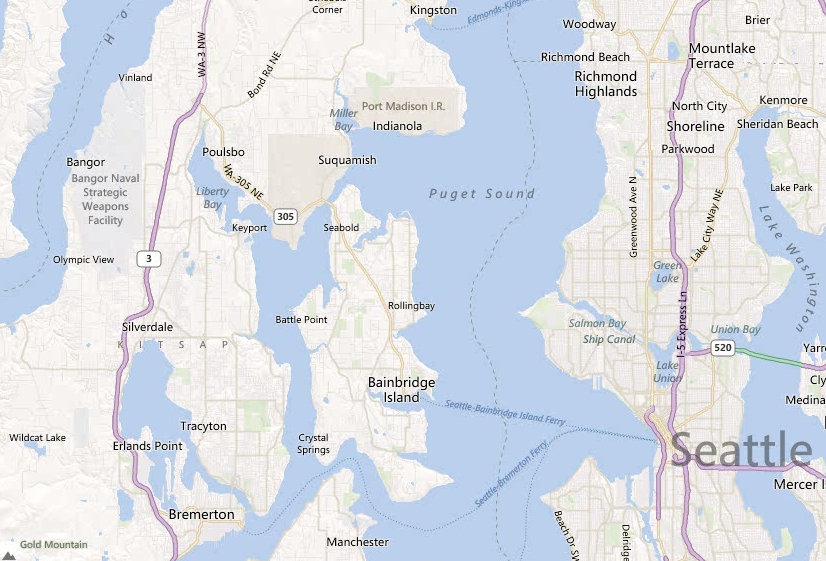 Fort Ward Park - Bainbridge Island Cascadia Marine Trail Map on