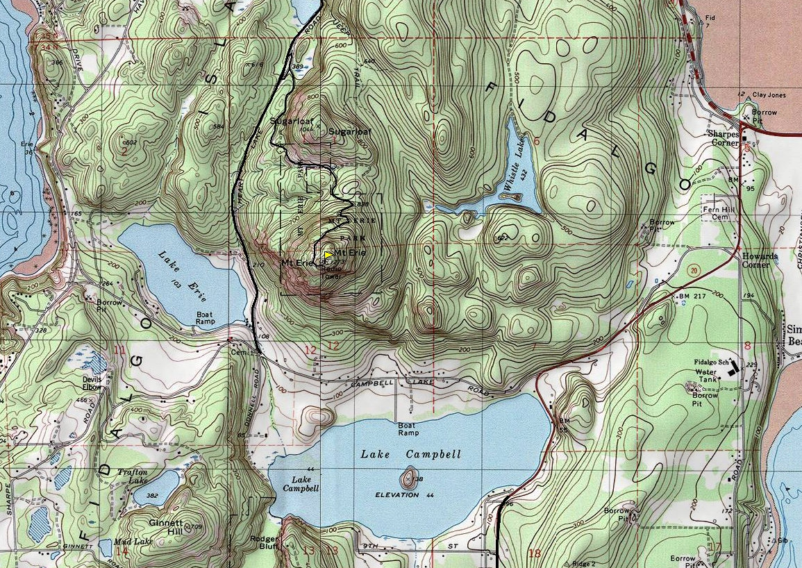 Mount Erie Map
