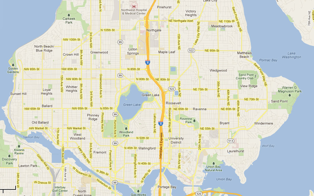 Related Keywords Amp Suggestions For North Seattle Map