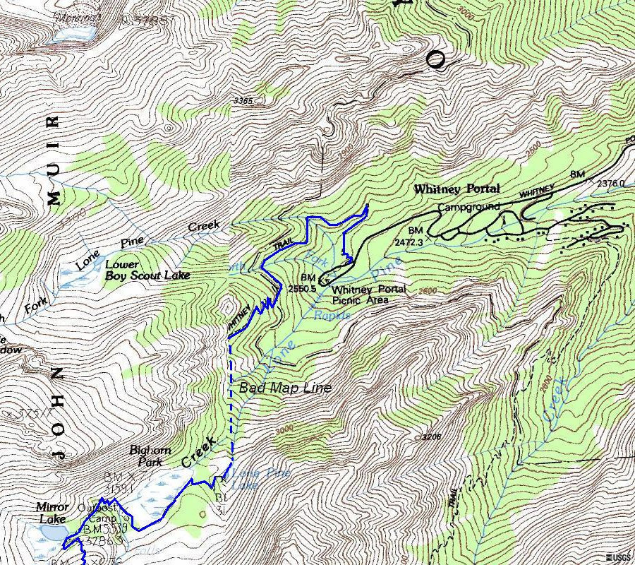 Where Is Mount Whitney On The California Map.Mount Whitney Climbing Information