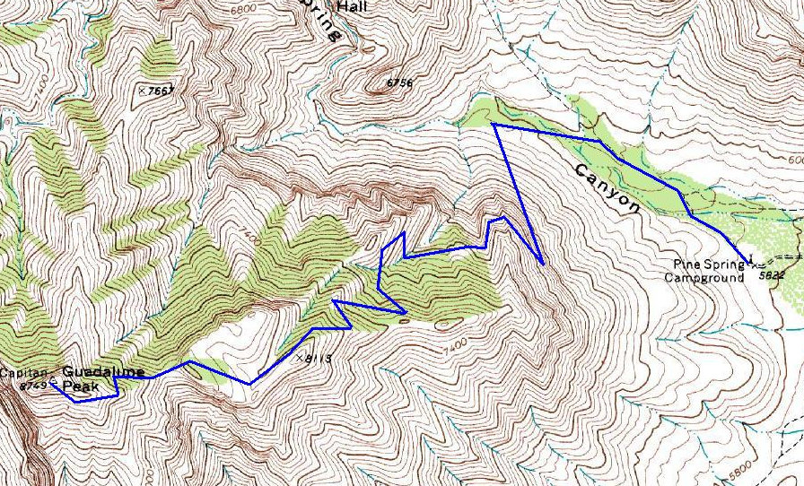 Guadalupe Peak Texas Hiking Information and Map