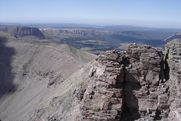 Climbing Kings Peak Utah