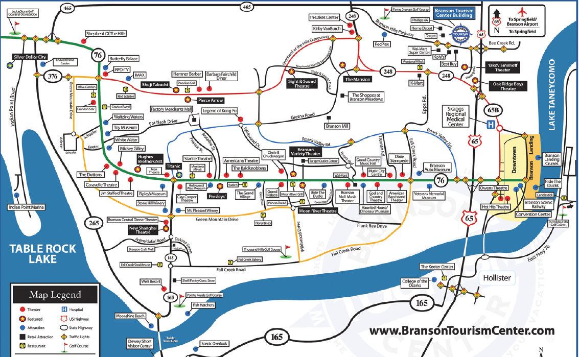 map of branson missouri  afputracom - pin branson missouri map of on pinterest