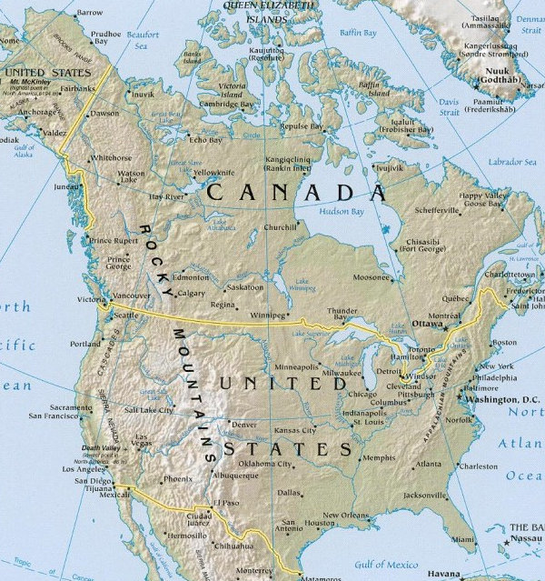 Travel Map Of The United States – Travel Map Of Us