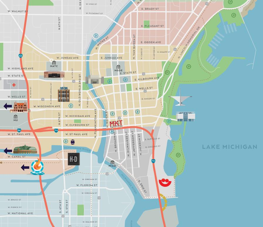 Milwaukee Wisconsin Sights and Attractions – Milwaukee Tourist Attractions Map