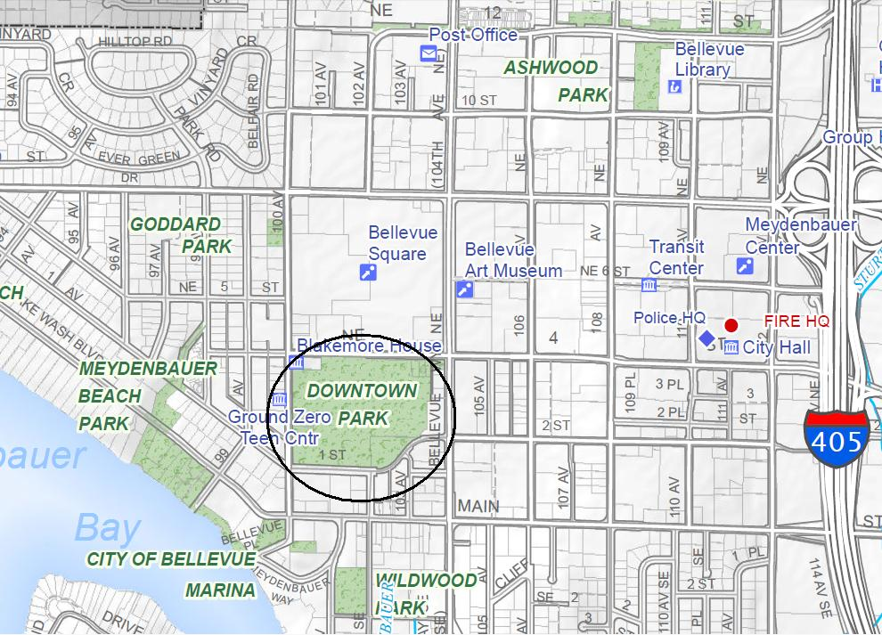 Downtown Park Bellevue Washington