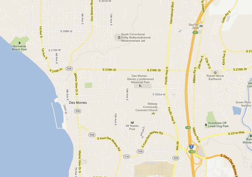 Des Moines Map Images
