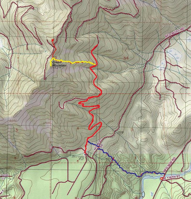 Green Mountain - North Bend Hiking