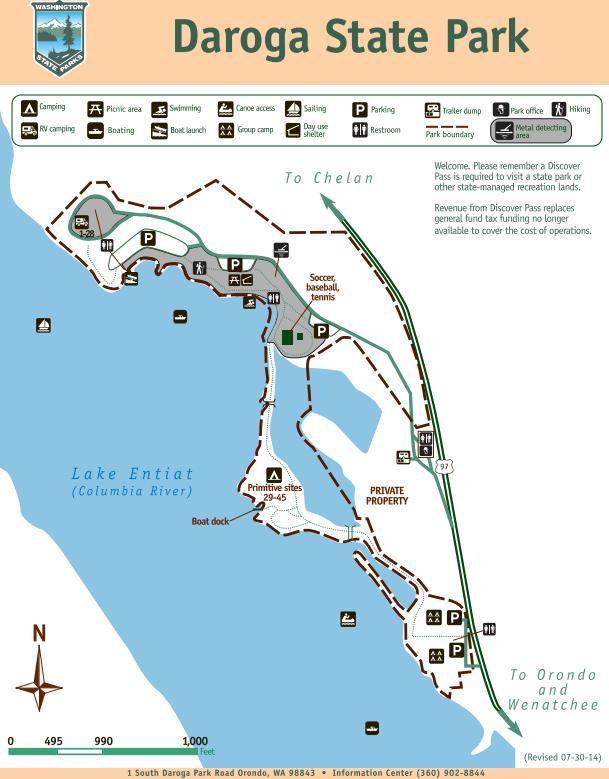 Camping Washington State Map.Daroga State Park Map