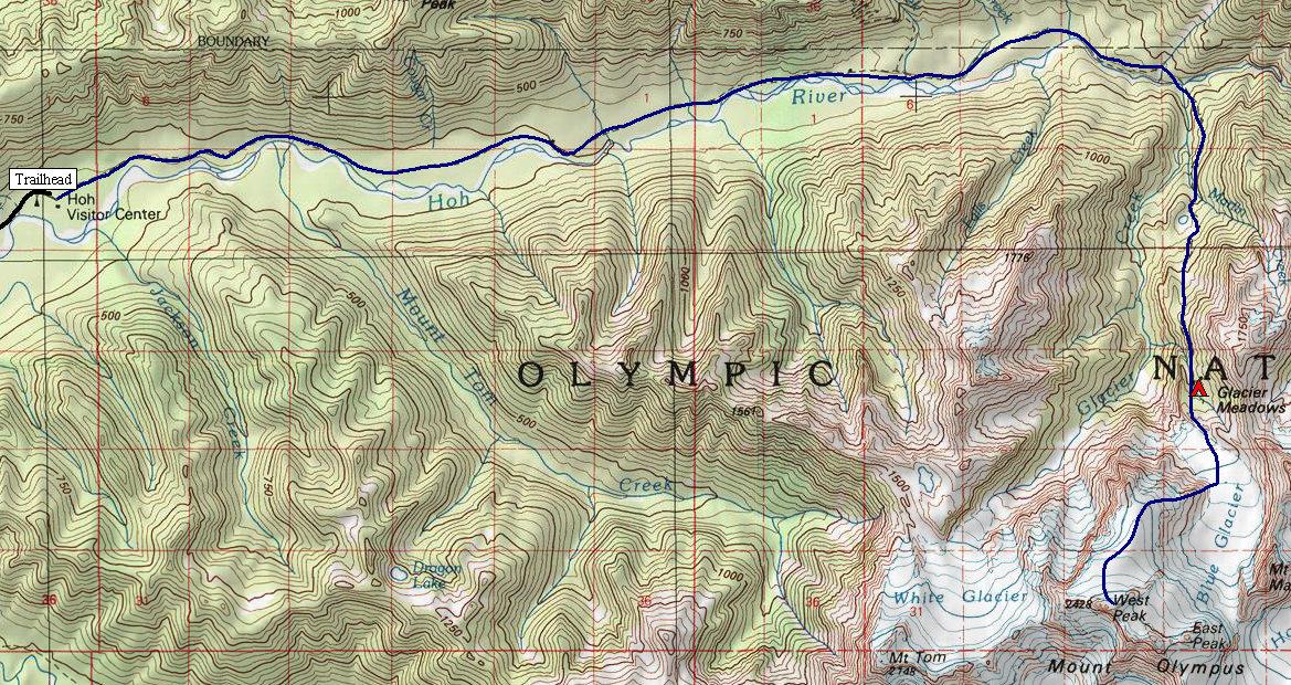 Mount Olympus Washington Climbing Routes - Olympus map