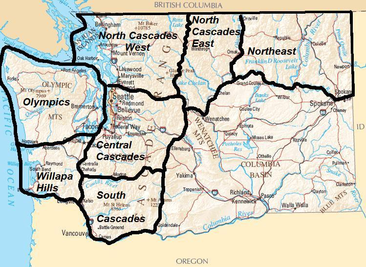 Aircraft Warning Service (AWS) Washington Locations