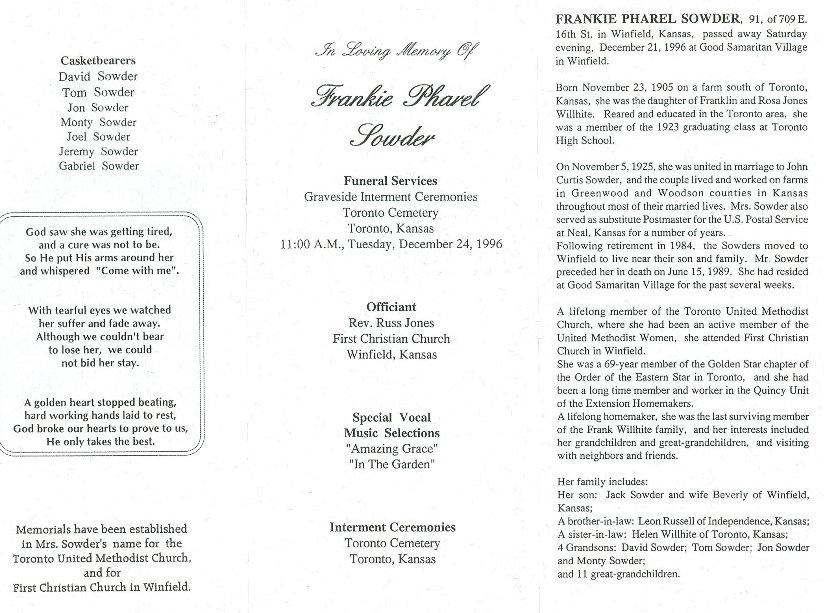 Frankie Pharel Willhite & John Curtis Sowder