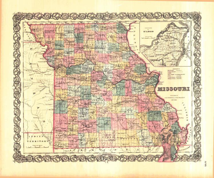 Early Missouri Maps Historic County Maps - Missouri maps