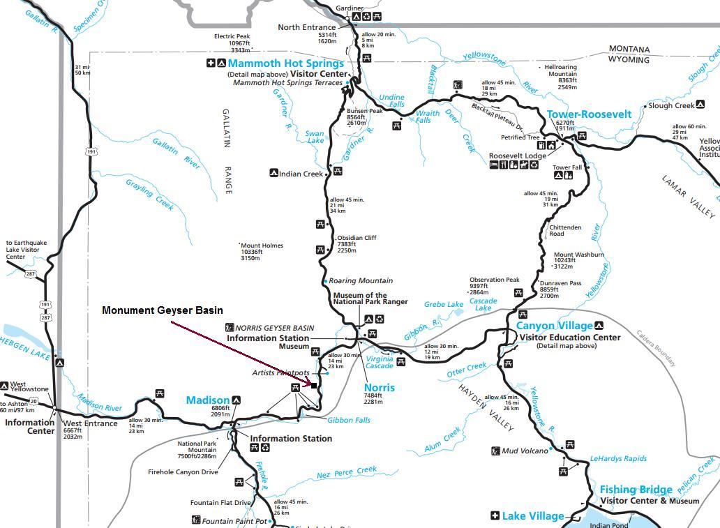 yellowstone geysers map - Spielbank.us