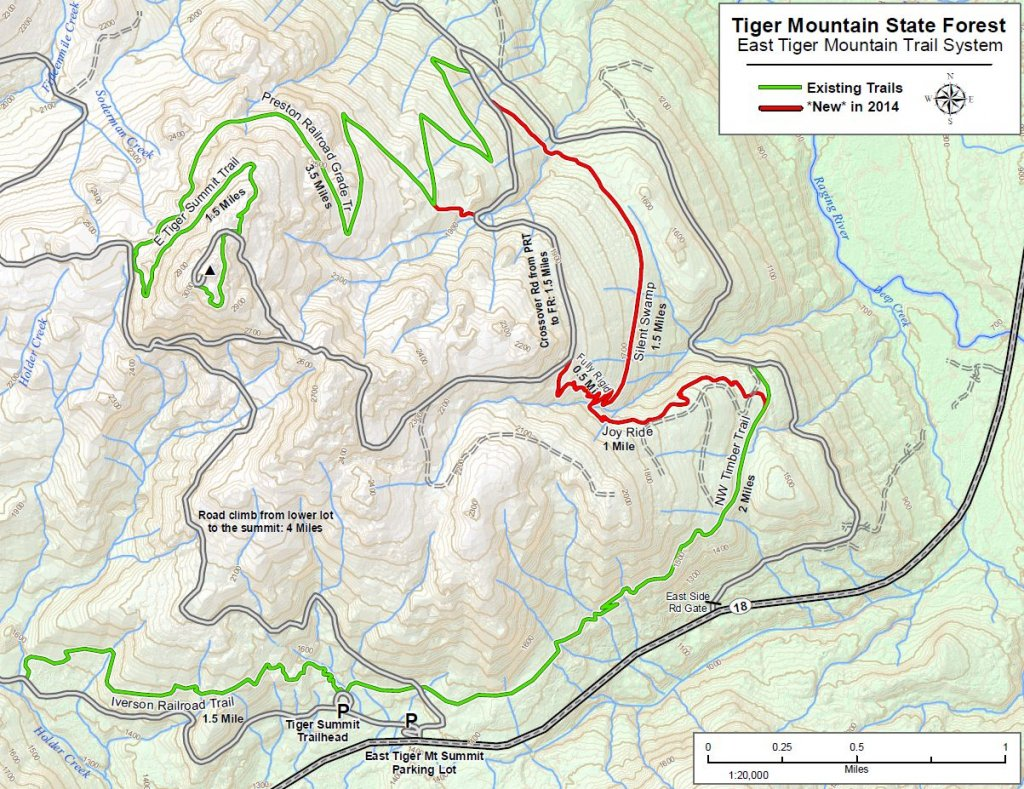 Tiger Mountain Map East Tiger Mountain   Fire Lookout History Tiger Mountain Map